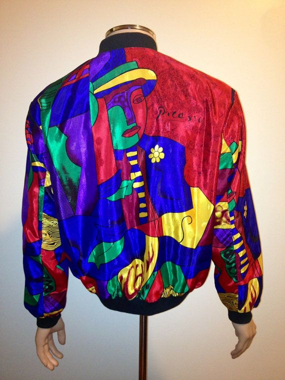 Vintage 1990s rare REVERSIBLE royal PICASSO lady by FisforFRESH, $87.00 #