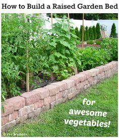 Como construir uma cama levantada do jardim de vegetais impressionantes!