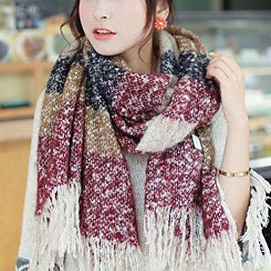 женская мода полоса шерсти теплый шарф – RUB p. 662,67
