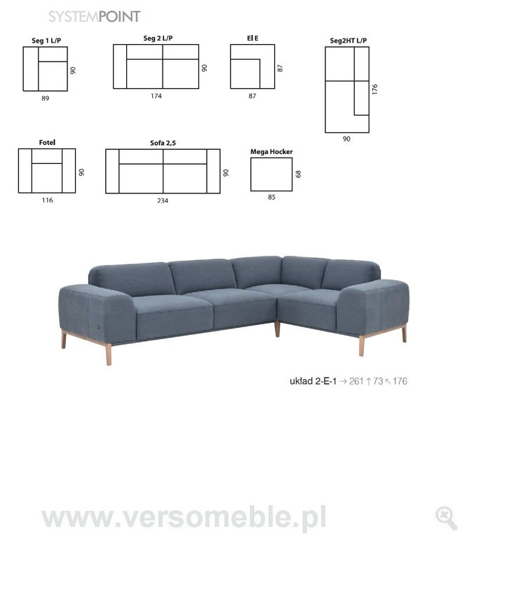 Point etap sofa -Verso