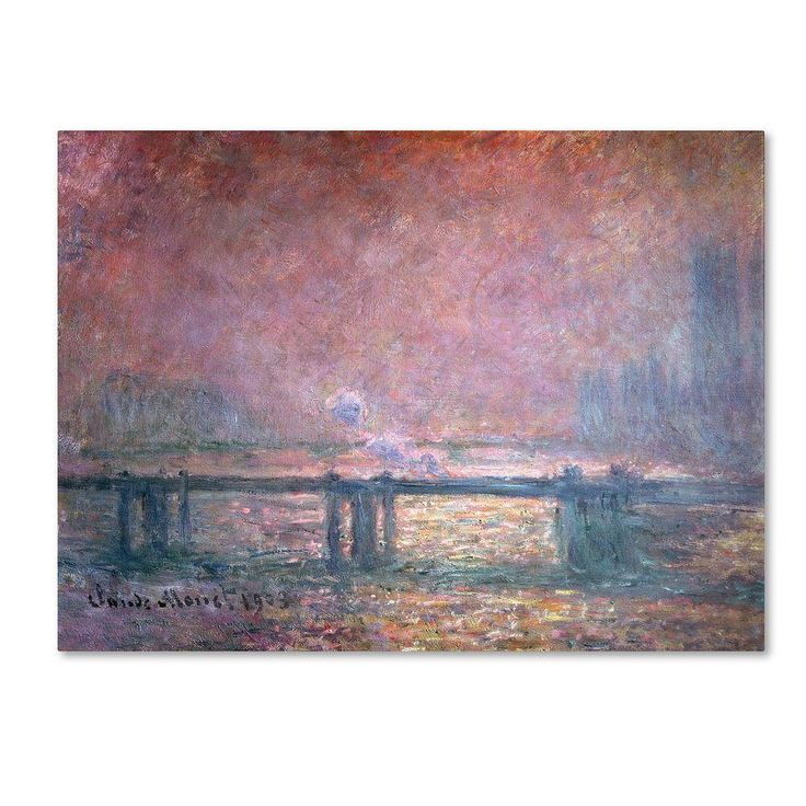 18 in. x 24 in. The Thames at Charing Cross Canvas Art
