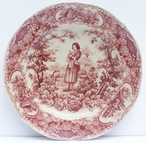 Joan of Arc Dinner Plate Antique French Toile Red Floral Border . $21.00. 10\  & 85 best Antique Red Transferware images on Pinterest   Utensils ...