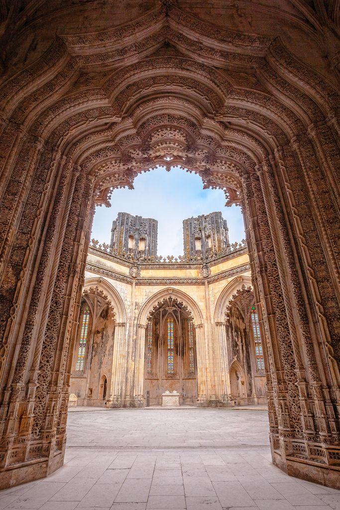 Ingang Mosteiro da Batalha, Portugal