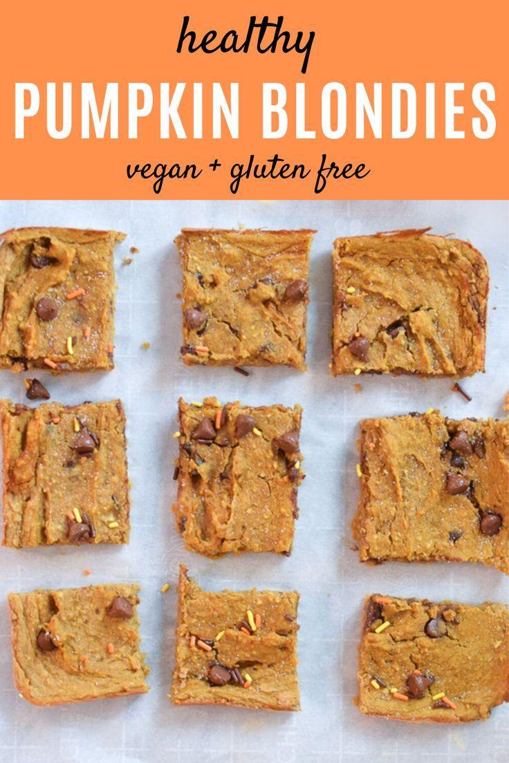 Pumpkin Chickpea Bars Recipe Healthy Pumpkin Bars Quick