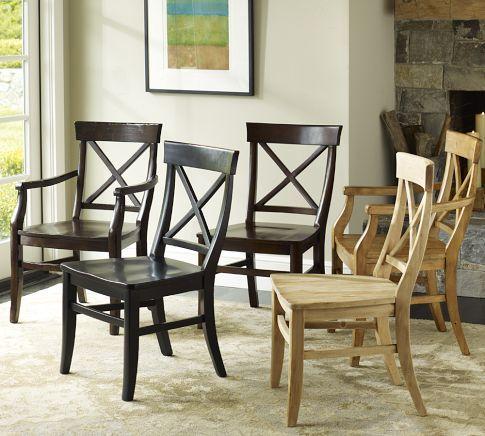 Aaron Wood Seat Chair | Pottery Barn