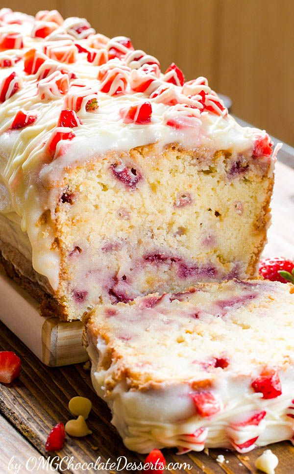 Fresh Strawberry Pound Cake
