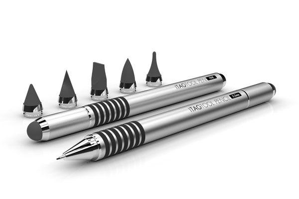 TAGTOOL Stylus: A digital stylus + mechanical pencil; fountain pen; or rollerball pen - $30.00