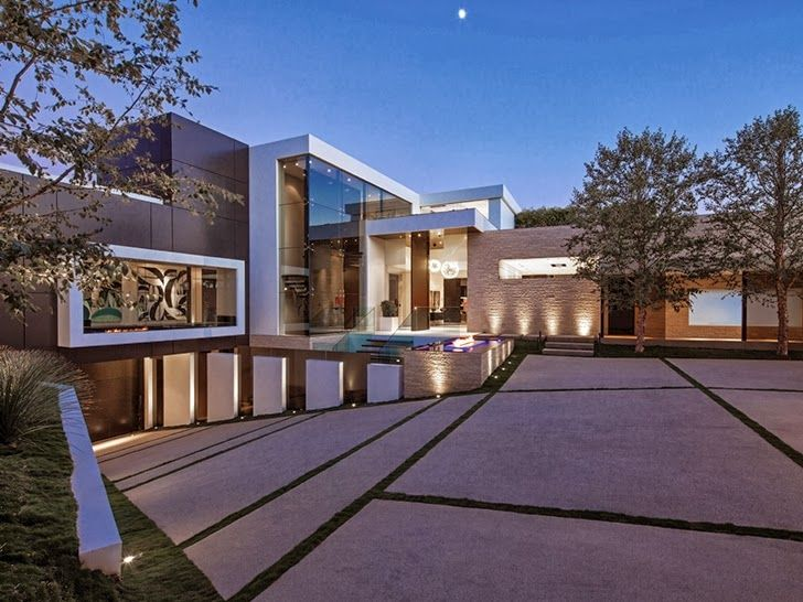 World of Architecture: Perfect Modern Mansion in Beverly Hills