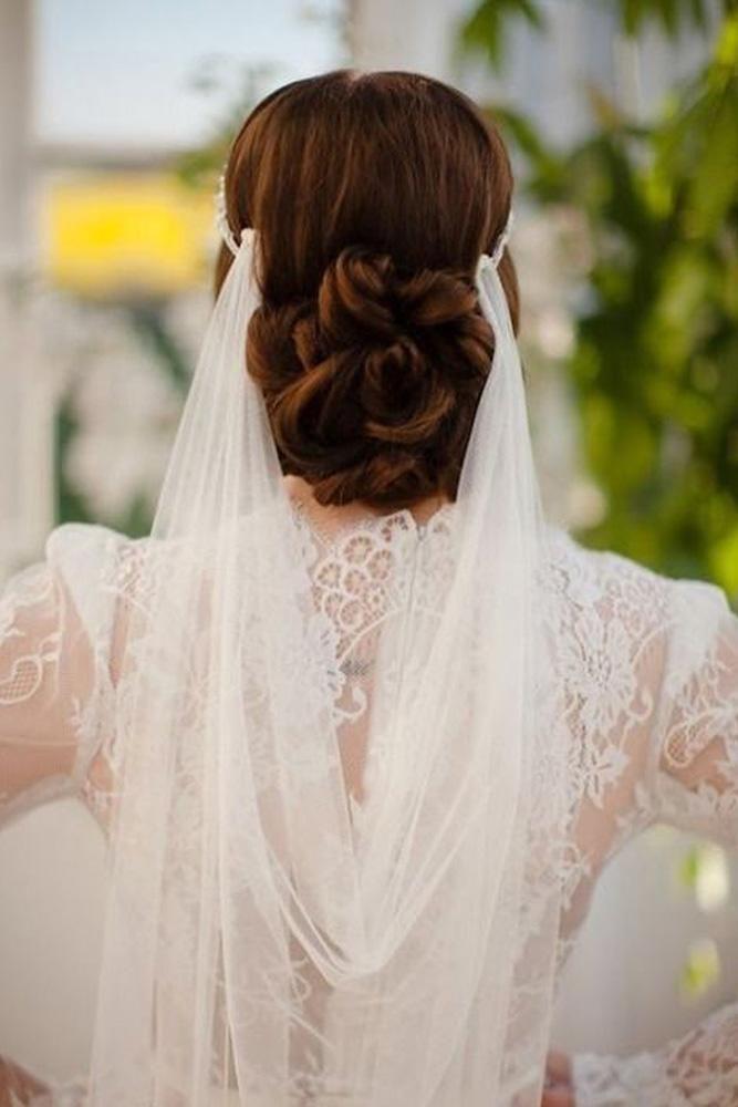 42 Dreamy Wedding Hairstyles With Veil Wedding Forward Bridal Veils And Headpieces Wedding Hairstyles With Veil Bride