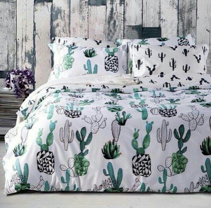 Cactus Print Dog Bed