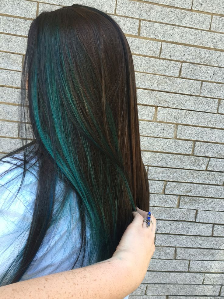 17 Best ideas about Blue Hair Highlights on Pinterest | Colored highlights,  Colored highlights hair and Peekaboo color