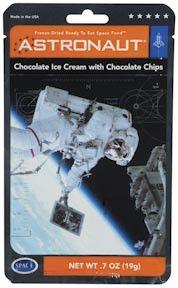 Astronaut Freeze Dried Ice Cream-Chocolate Flavor w Chocolate Chips
