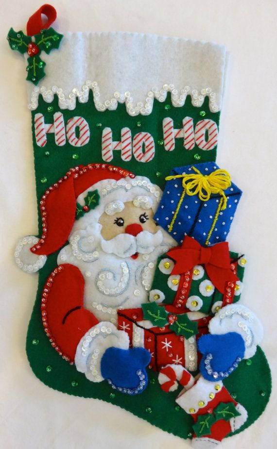 Hey, I found this really awesome Etsy listing at https://www.etsy.com/listing/208447977/finished-bucilla-16-santas-gifts-felt