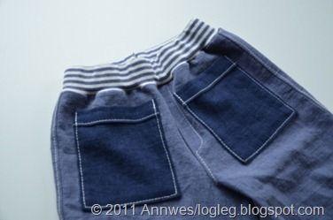 Tutuorial - ribb med innlagt strikk i livet på bukse