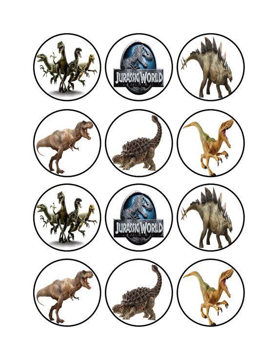 Edible Jurassic World Dinosaur Cupcake Cookie Toppers ...