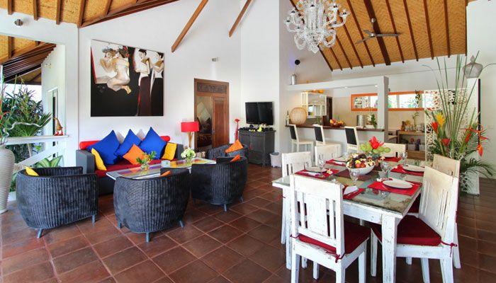 Un #salon très #conviviale grâce à ses couleurs vives!
