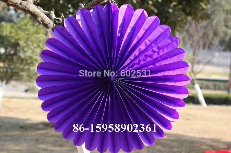 SPR 5pcs/lot 40 cm Wedding party paper decoration birthday party wedding arrangement paper fan paper flowers balls