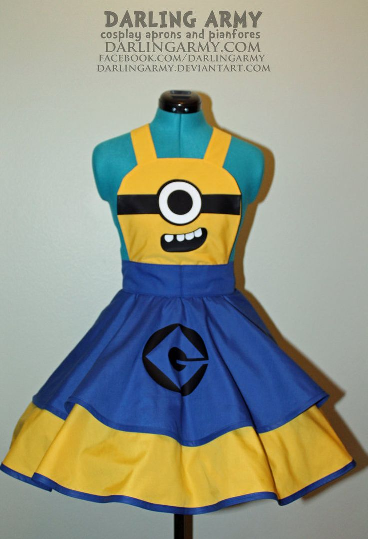 White pinafore apron costume - Minion Despicable Me Cosplay Pinafore By Darlingarmy On Deviantart