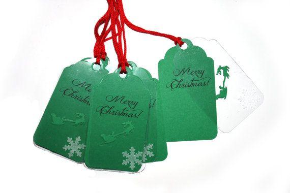 10 Double Christmas Tags | Christmas sledge Tag | Showflake Christmas Tags | Christmas Packaging | Name Labels | Christmas label