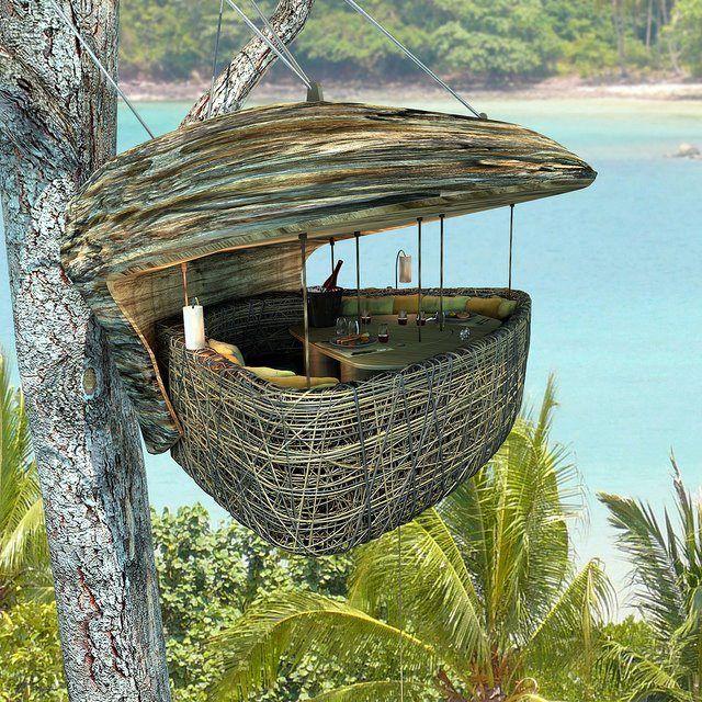 tree house love: Soneva Letter, Birds Nests, Resorts, Sonevakiri, Trees Houses, Dinners, Treehouse, Thailand, Dining Pods