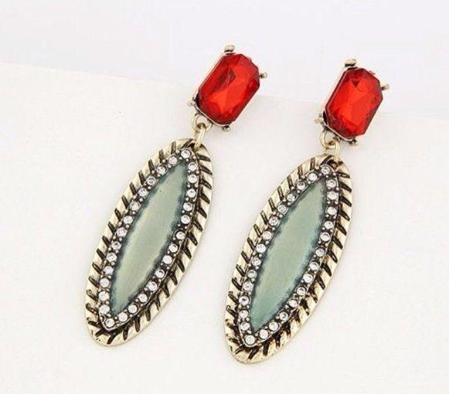 Drop earrings.