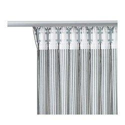 Le 20 migliori idee su bastone per tende su pinterest risparmiatori di spazio di dormitorio - Tende a binario ikea ...