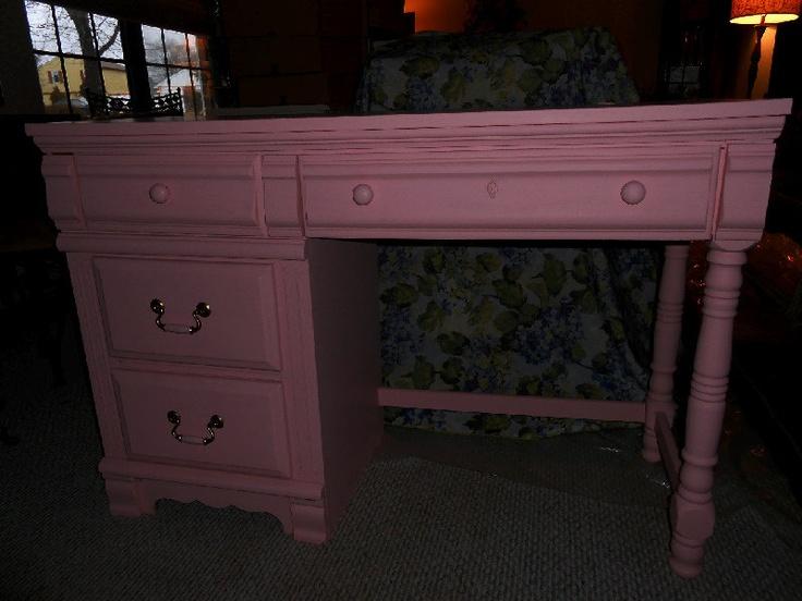 Shabby Chic Pink Study Desk. $158.00, via Etsy.