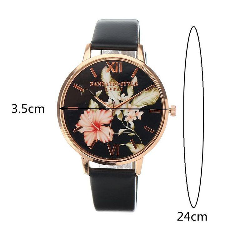 LVPAI Women's Watch Retro Leaves Flower Elegant Watch