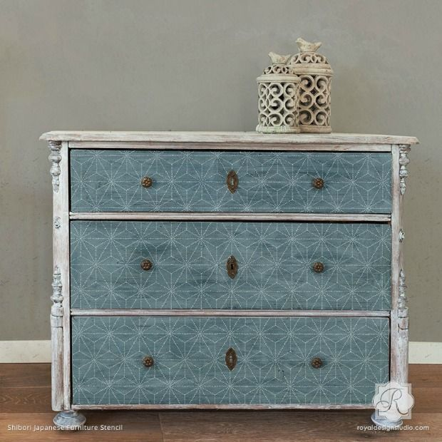 Color Trend  8 Indigo Blue Stencil D cor Ideas. 480 best Stenciled and Painted Furniture images on Pinterest