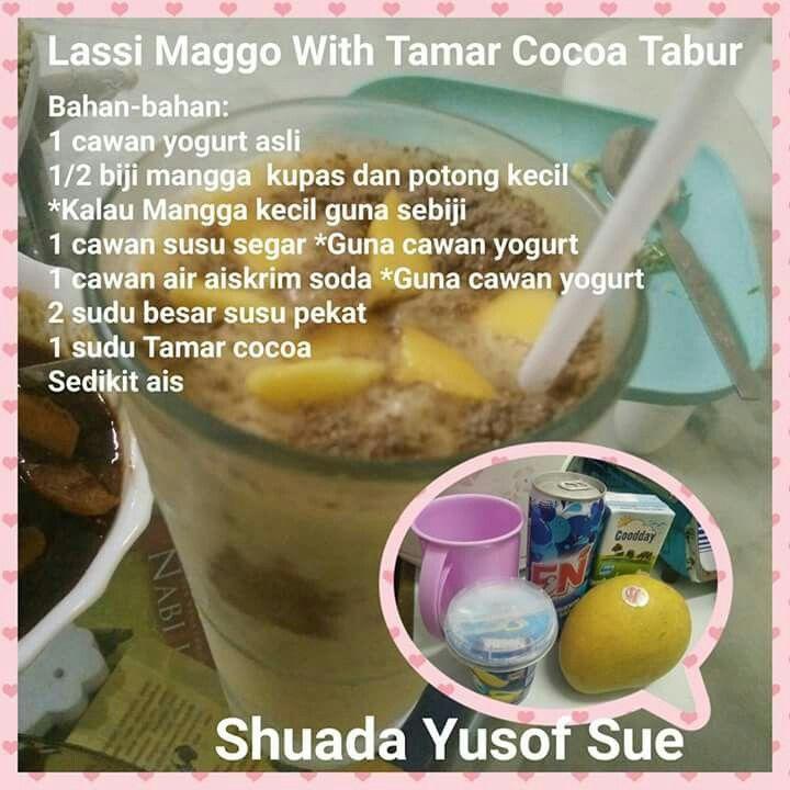 Lassi mango with tamar cocoa