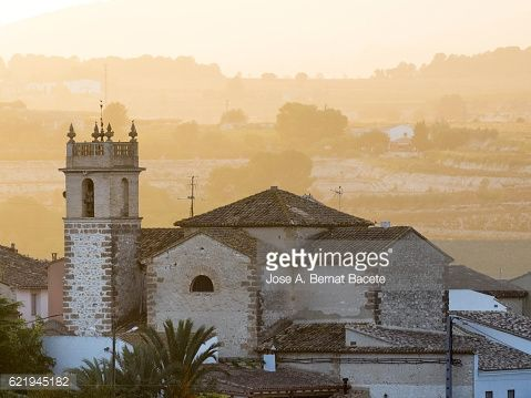 Church of the village of Bufali in the Valencian community,... #bufali: Church of the village of Bufali in the Valencian… #bufali