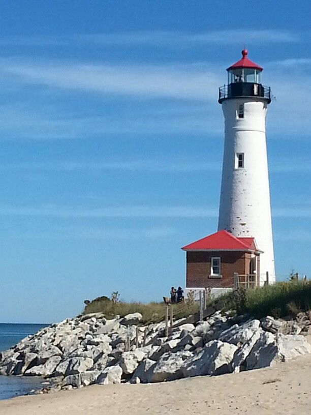 CRISP POINT LIGHTHOUSE IN THE UP OF MICHIGAN :-)