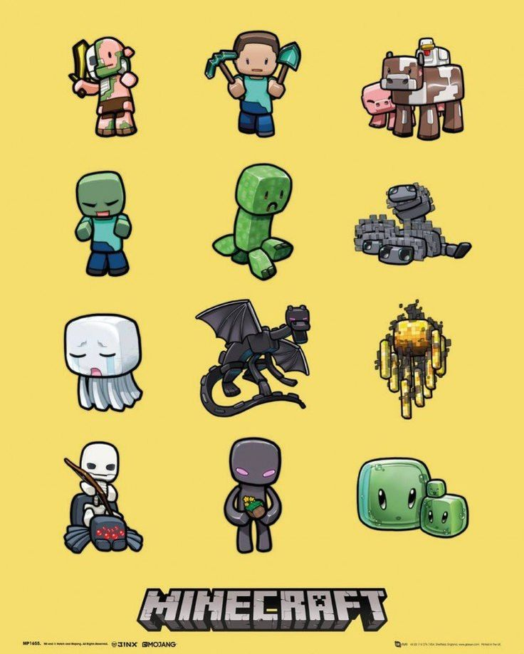 Minecraft Characters Mini Poster