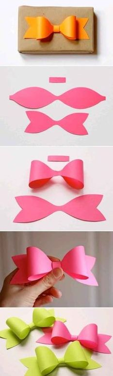DIY colorful paper bow, so easy!