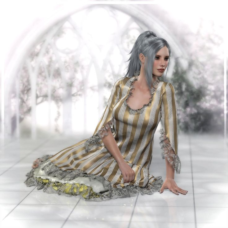 Vintage Layered Dress Dynamic by Frequency // #poser #renderosity #3d #frequency #rococo #poserpro #render