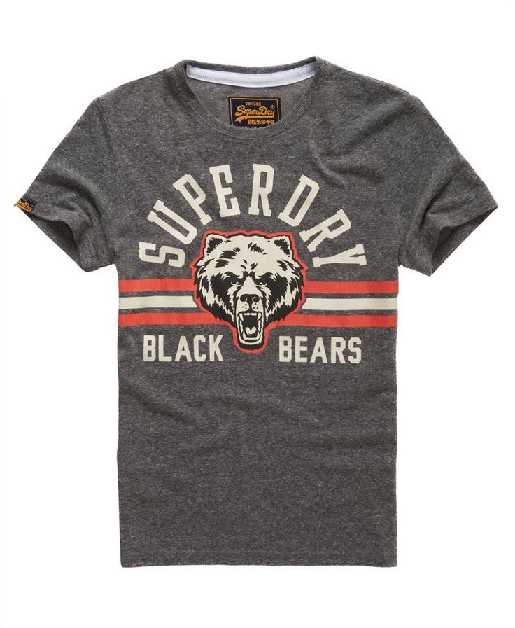 Mens - Black Bears T-shirt in Black | Superdry