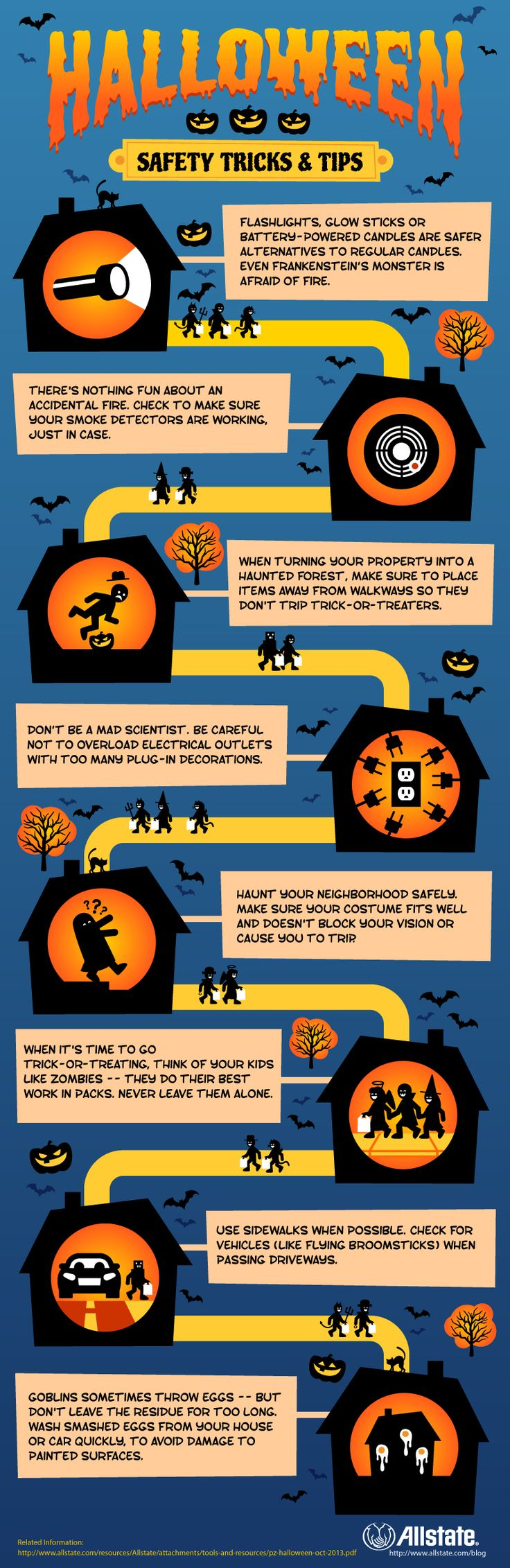 Check out this @Allstate infographic for some great tips and tricks on Halloween safety!