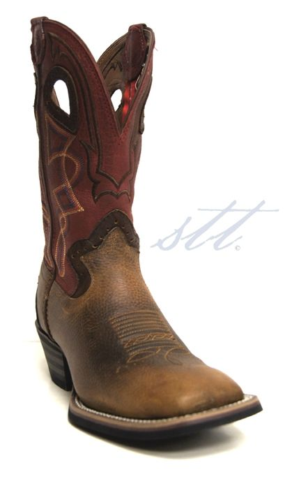New to STT -- Tony Lama Men's Walnut Blaze Cowboy Boots | Hey guys, looking for a pair of cowboy boots that are comfortable and functional? If so, these Tony Lamas are what you need! They feature orthotic insoles and a rubber sole for comfort along with the stylish square toe and a stacked heel. | SouthTexasTack.com