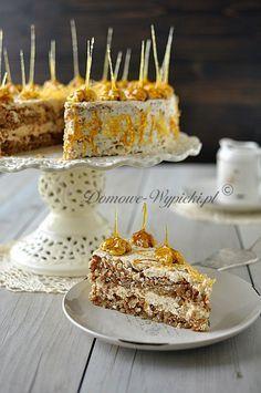 Tort orzechowo- karmelowy