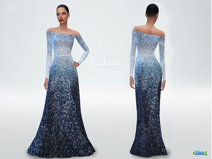 A dress made from the night sky and the dreams of angels. Found in TSR Category 'Sims 4 Female Everyday'