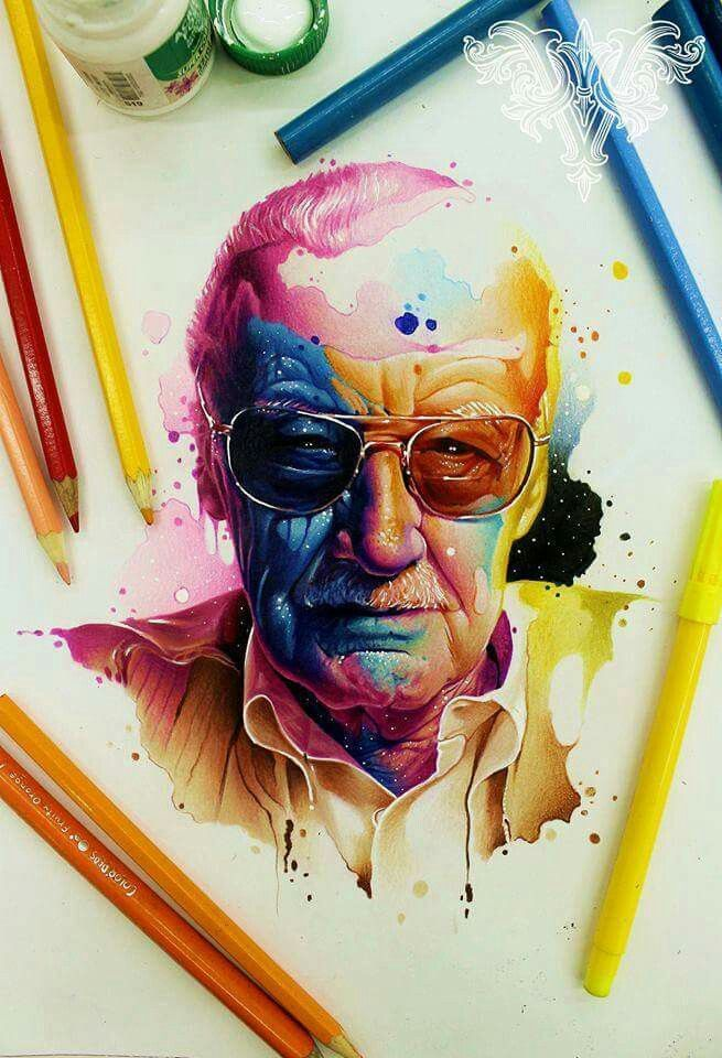Stan Lee, a real-life Super Hero. He has made the world a better place by giving us his comic creations. Excelsior!