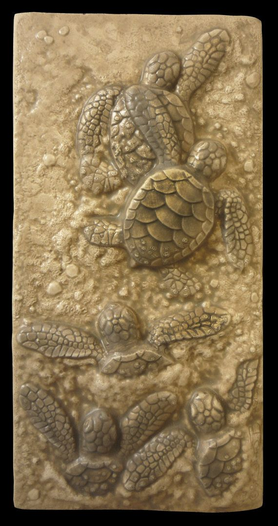 Art tile art tiles Ceramic Baby sea turtle by MedicineBluffStudio