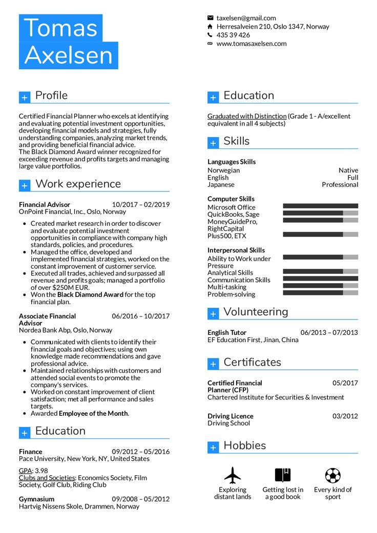 Financial Advisor Resume Louiesportsmouth Com Resume Examples Manager Resume Job Resume Samples