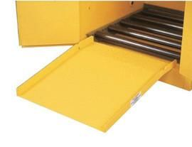 """28"""" X 24 1/2"""" Yellow Steel Drum Ramp For All Drum Cabinets"""