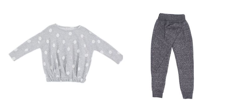 GW18407-18 Sweater with white maxi pois /color grey GW18601-3 Pant /color grey