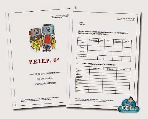 RECURSOS PRIMARIA | Evaluación Inicial de Lengua para 6º de Primaria ~ La Eduteca
