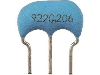 セラミック発振子(セラロック)コンデンサ内蔵タイプ 9.22MHz