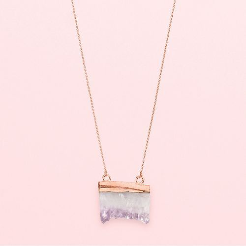 LC Lauren Conrad Runway Collection Long Agate Necklace