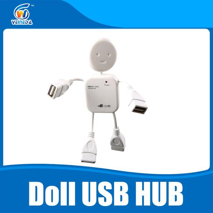 Muñeca USB Hub USB 2.0 Hub 4 Puertos Portátil 480 150mbps Mini Adaptador Divisor de Alta Velocidad Hub USB Para PC Laptop