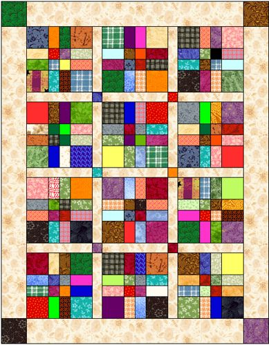 Disappearing Nine Patch Lay Outs | Disappearing 9-patch quilt layout